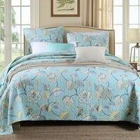 100% Cotton Bedspreads Floral Super Soft Quilted Bedspread Set Patchwork bedspread Queen Size 3PCS
