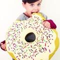 Cute Cartoon Donuts Baby Pillow Boy Girl Room Chair Doughnuts Cushion for Baby Children Kid Donuts Sleeping Pillow Drop Shipping