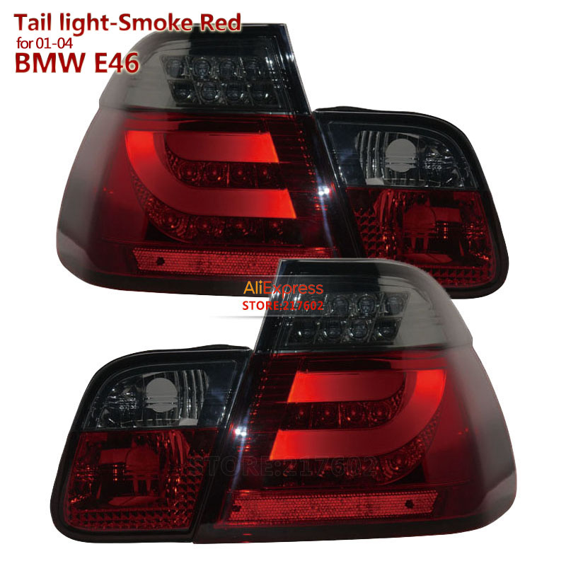 Smoke Red housing 2001-2004 for BMW 3-Series E46 320i 328i 325i LED Tail lights Assembly SONAR brand Top Quality 2pcs front bumepr corner lights lights turn signal lamps for bmw 3 series e46 2001 2004