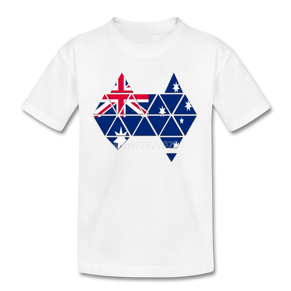Shirt design online australia - Australian Flag Australia Map T Shirt Cotton Custom Boys Shirts Design Meninos Roupas Boys Clothes