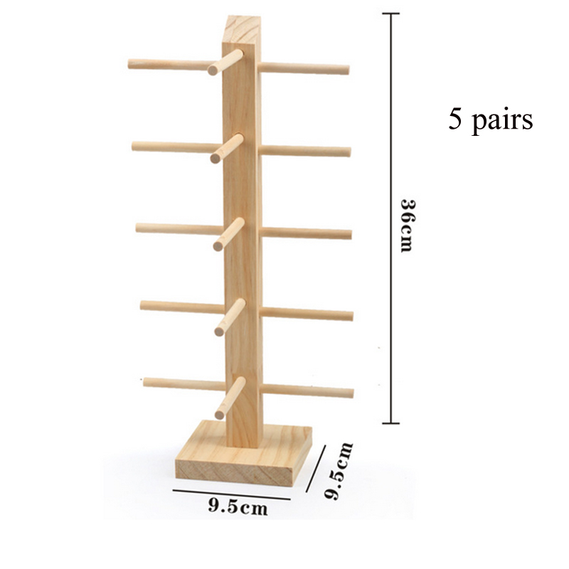 US $4 84 40% OFF New 9 Sizes Multi Layers Sun Glasses Eyeglasses Natural  Wood Display Stands Shelf Glasses Display Show Stand Holder Rack-in Jewelry