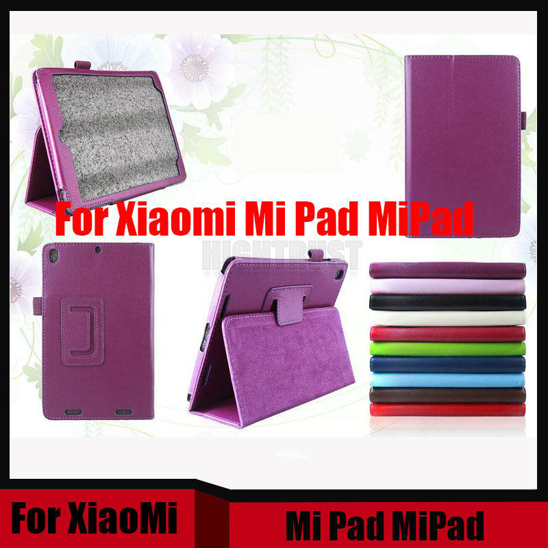 3 in 1 PU Leather Case Stand Slim Cover For Xiaomi Pad MiPad Mi Pad 1 A0101 7.9 inch Protector Case + Screen Film + Stylus