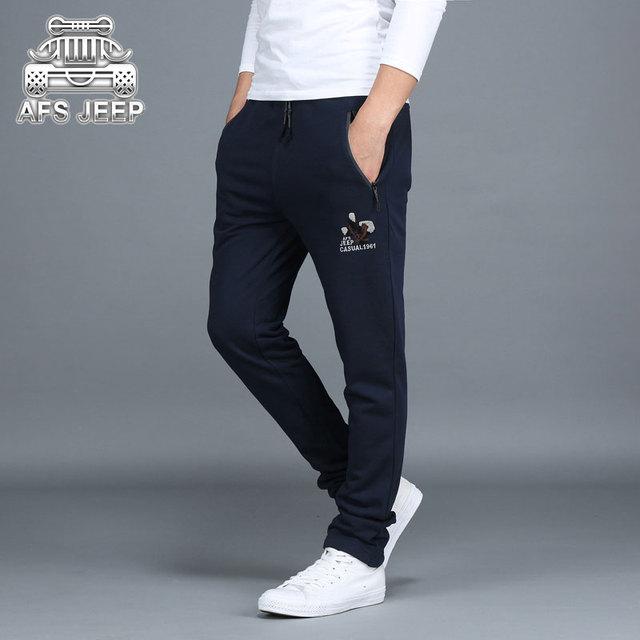 M ~ 3XL TAMAÑO de ASIA 2017 Del Otoño Del Resorte Nuevos Hombres del Estilo Sencillo Pantalones Rectos Cotton Casual NUEVA Marca de Ropa ROPA Pantalones SUELTOS