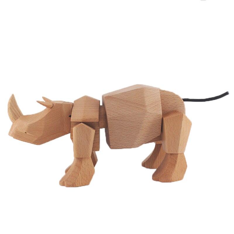 2019 NEWS PRODUKT Europäischen holz Rhino Ornamente Handwerk Wandelbare Spielzeug-in Figuren & Miniaturen aus Heim und Garten bei  Gruppe 2