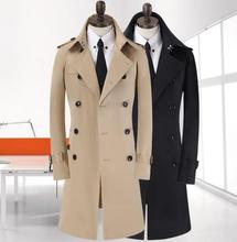 Watch ! Korean men plus size 9XL spring mens long trench coat new business casual gentleman double-breasted jacket