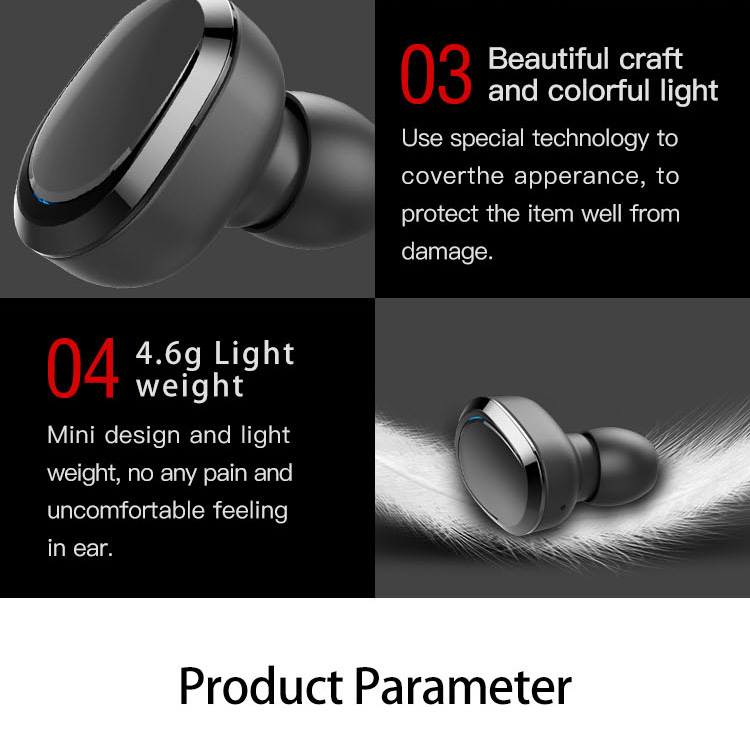 Original T12 Dual TWS True Wireless Bluetooth Headphones In-ear Stereo Music Headsets Invisible Earphone Hands-free Microphone_13