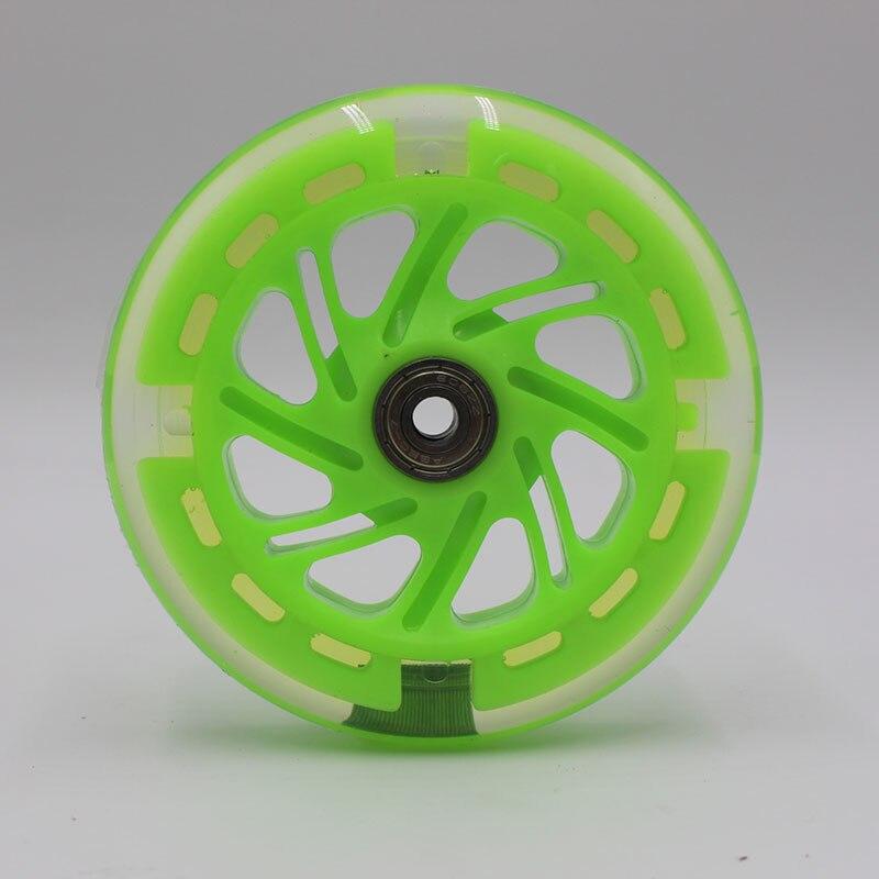 High Quality / Skating PU Wheels /wheel Scooter Flashing Wheel 120 * 24   8 Pcs/ Lot 80a