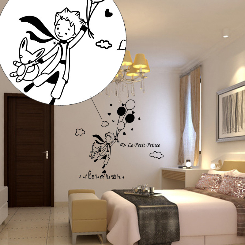 58x64cm Creative The prince balloon Wall Sticker Decor Mural Home Decal Sitting room home decorations bedroom wall decals