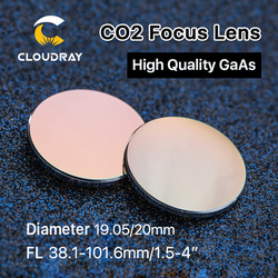Cloudray GaAs Focus Lens Dia. 19.05 / 20mm FL 50.8 63.5 101.6mm 1.5-4 High Quality for CO2 Laser Engraving Cutting Machine