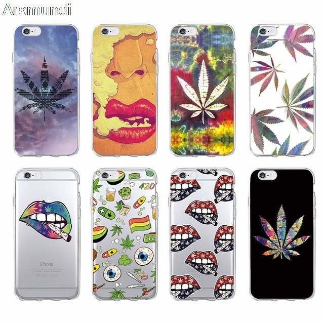 arsmundi fashion art high weed tumblr design phone cases for iphonearsmundi fashion art high weed tumblr design phone cases for iphone 6 5s 6 6s 7 8 plus x case crystal clear soft tpu cover cases
