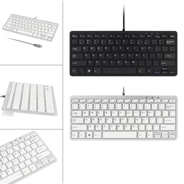 carprie new ultra thin slim 78 key wired usb mini pc keyboard for pc apple mac laptop drop. Black Bedroom Furniture Sets. Home Design Ideas