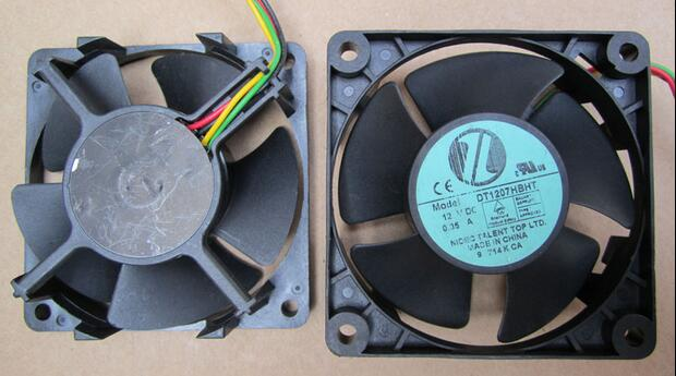 DT1207HBHT 12V 0.35A dual-ball original server CPU cooling fan diameter 71.5mm pitch 62mm malph футболка