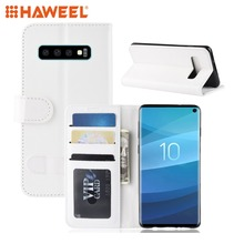 HAWEEL For Galaxy S10 Case Texture Single Fold Horizontal Flip Leather with Holder & Card Slots Wallet Guard Shell