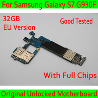 100% Original unlocked for Samsung Galaxy S7 G930F Motherboard,for Galaxy S7 G930F Mainboard with Android System 32gb,EU Version