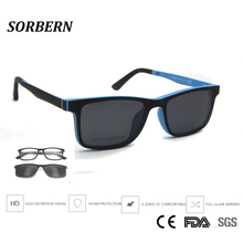 SORBERN الاطفال خفيفة الوزن Ultem نظارات موضة المغناطيسي كليب على النظارات الشمسية عدسات قطبية الأطفال مربع نظارات نظارات