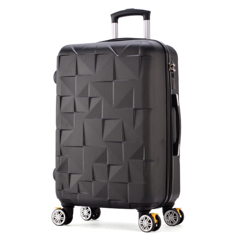 Dynamisch 24 Inch Hohe Qualität Gitter Trolley Koffer Travell Tasche Roll Gepäck Tasche Student Persönlichkeit Zugstange Stamm Spinner Räder