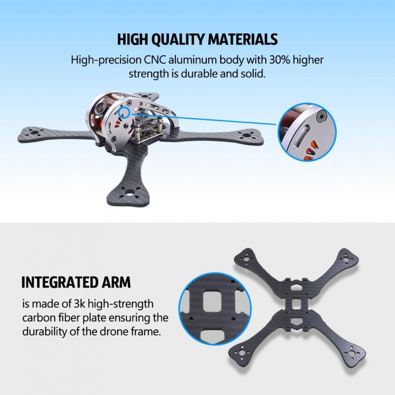 RC Quadcopter Frame 220mm Wheelbase X Shaped Arm Carbon Fiber ...