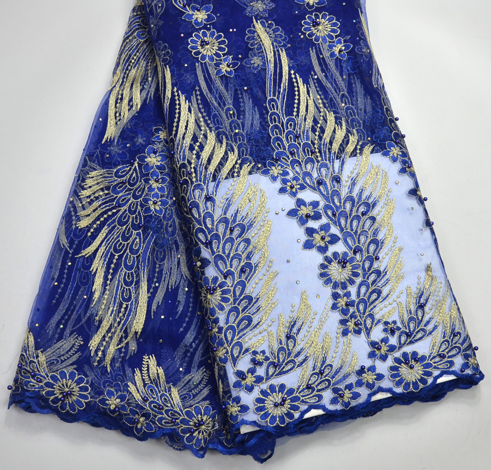 Latest Excellent High Quality Royal blue French Net lace African Traditional Wedding lace fabrics 3D Flowers French laceLatest Excellent High Quality Royal blue French Net lace African Traditional Wedding lace fabrics 3D Flowers French lace