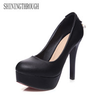 NEMAONE 2018 NEW zapatos mujer thin high heels Patent leather platform wedding shoes woman sexy Crossdresser pumps