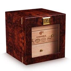 CIGARLOONG boîte d'humidificateur à cigares | 3 couches, hygromètre doublé de bois de cèdre, tabagisme accessoires de cigares, cadeaux