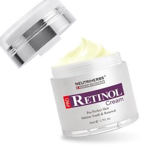 Image 4 - % 2.5% Retinol nemlendirici yüz kremi hyaluronik asit vitamini E kollajen Anti Aging kırışıklık vitamini pürüzsüz beyazlatıcı krem 50ml