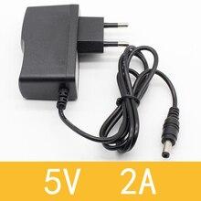 1 шт. 5V2A AC 100 V-240 адаптер конвертер DC 5V 2A 2000mA Питание ЕС штекер постоянного тока 5,5 мм x 2,1 мм