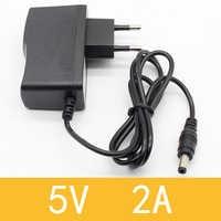 1 PCS 5V2A Neue AC 100 V-240V Konverter Adapter DC 5 V 2A 2000mA Netzteil EU Stecker DC 5,5mm x 2,1mm