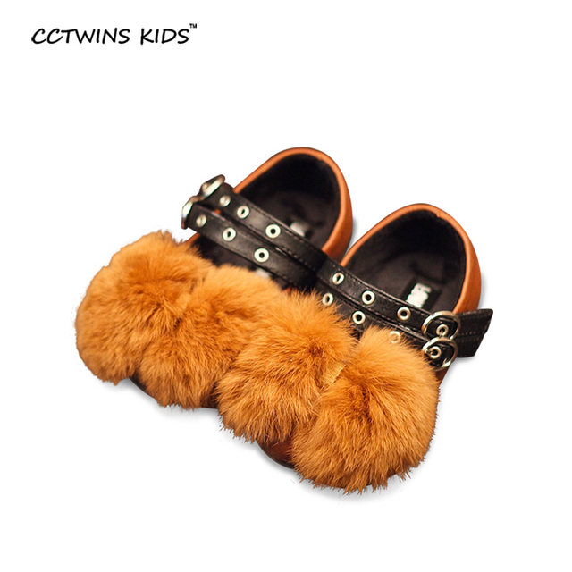CCTWINS KIDS autumn winter fashion princess shoes children pu leather shoes baby girls black party shoes toddler walking shoes