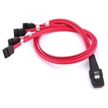 Profeesional Mini SAS to 4 SATA Cable Standard SAS 4i SFF-8087 36P to 4 SATA 7P HDD Hard Drive Splitter Cable 10Gbps UK Plug