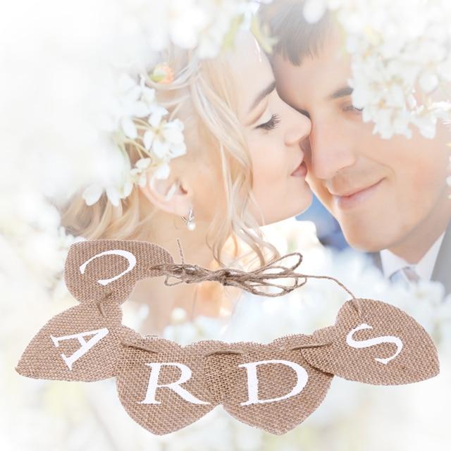 Burlap Banner Handmade Vintage Rustic wedding Theme sign CARDS ...