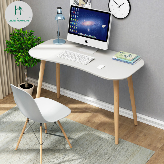 Louis Fashion Computer Desks Nordic Home Minimalist Modern Bedroom Solid Wood Small Table