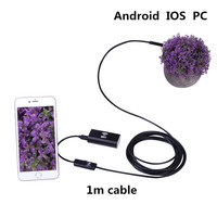 New Pc Android And IOS Wireless Waterproof Endoscope Mini Camera 2 In 1 1M Hard Cable