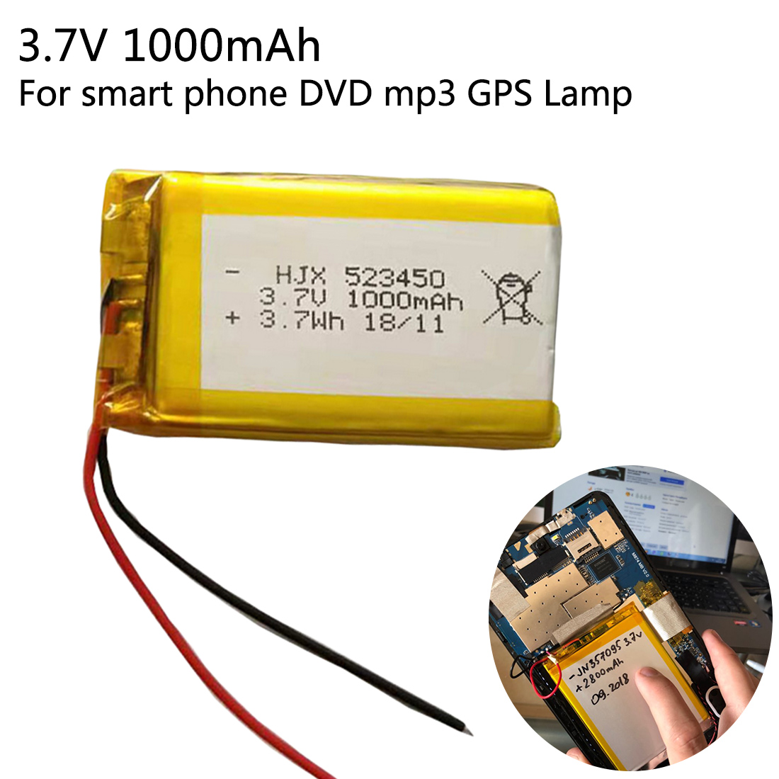 Replacement Batteries Batteries 1000mah Lithium-ion Polymer Battery 3.7 V 102050 For Mp3 Mp4 Mp5 Gps Ktv Household Battery Amplifier Audio Computer Microphone