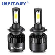 2Pcs H4 LED Bulb Car Headlight H7 LED H1 H3 H11 HB3 HB4 9005 9006 9007