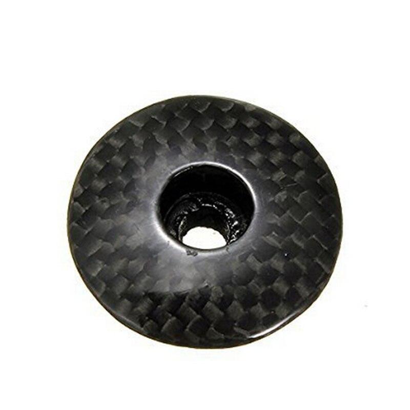 1 шт. горячая Распродажа углеродное волокно руль для велосипеда, гарнитура стволовых Топ Кепки Крышка черный 3,3 см x 3,3 см x 1,1 см