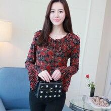 2018 fashion summer print women blouse shirt chiffon women's clothing tops plus size flare sleeve women tops blusas E0615