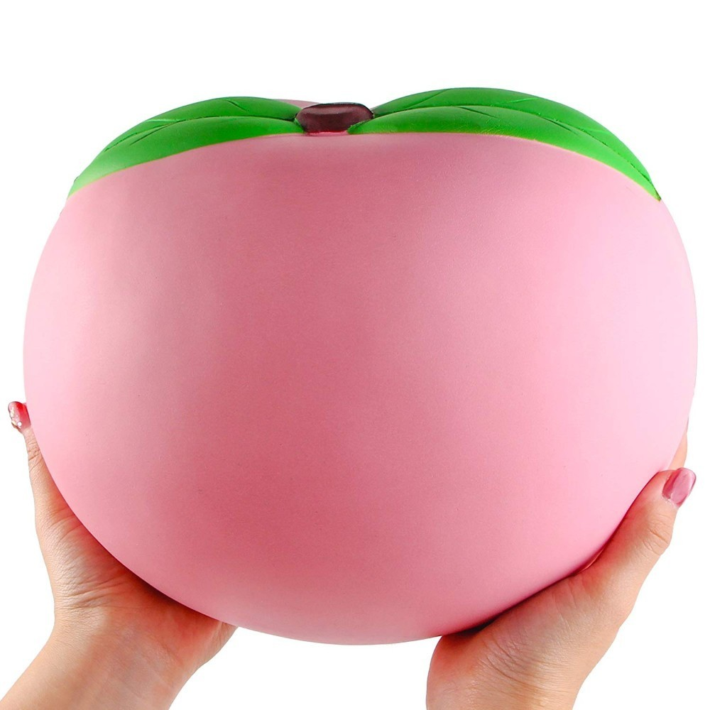 24CM Super Jumbo Kawaii Peach Squishy Super Squeeze Slow Rising cream Scented Fruit Antistress Kids Toys Strap Phone Charm