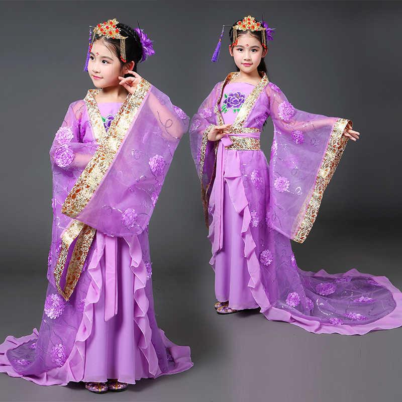 古代中国の衣装中国の伝統的なオペラ子供子供少女王朝明唐漢韓服ドレス子衣装フォークダンス
