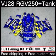 Комплект+ майка для SUZUKI VJ21 VJ22 Movistar Синий VJ23 RGV250 97 98 тела 43HC. 18 RGV 250 VJ 21 22 23 SAPC RGV-250 1997 1998 обтекатель