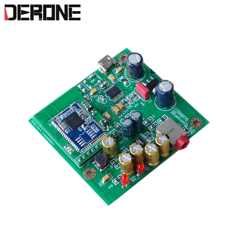 CSR8675 Bluetooth 5 0 APTX dac Board Bluetooth Receiver PCM5102 for amplifier active speaker free shipping