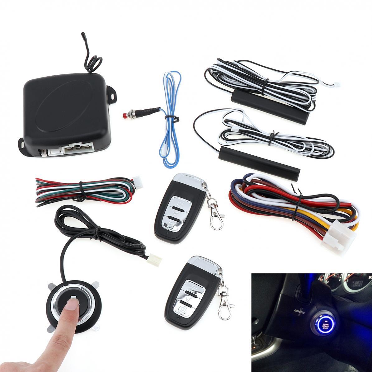 Smart Auto voiture alarme moteur Starline bouton poussoir démarrage arrêt RFID serrure interrupteur d'allumage sans clé entrée système de démarrage Anti-vol