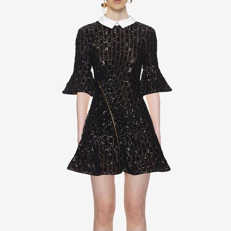 Self Portrait мини вечерние платье Винтаж дизайнер 2018 женский высокое качество платья с пайетками