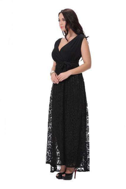 New Ladies Sleeveless Maxi Plus Size Dress