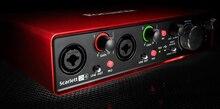 Orijinal FOCUSRITE Scarlett 2i4 II 2nd nesil USB ses arabirimi ses kartı profesyonel kayıt için 2/4 out