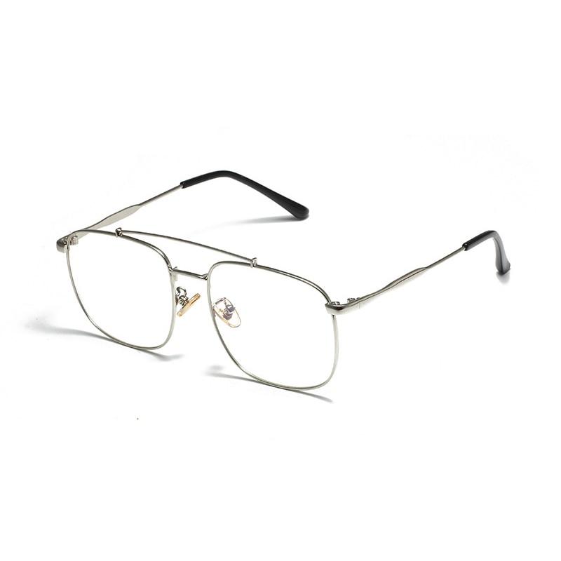 Vintage Oversized Square Eyeglasses Women Retro Clear Optical Glasses Frame Men Myopia Prescription Spectacles Frames Eyewear in Men 39 s Eyewear Frames from Apparel Accessories