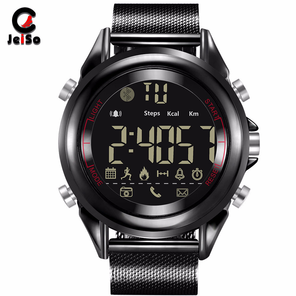 2019 Smart Watch Top Luxury Brand JeiSo Mens Sports Step Electronic Watch Ladies Bluetooth Smart Watch For Apple IOS Android2019 Smart Watch Top Luxury Brand JeiSo Mens Sports Step Electronic Watch Ladies Bluetooth Smart Watch For Apple IOS Android