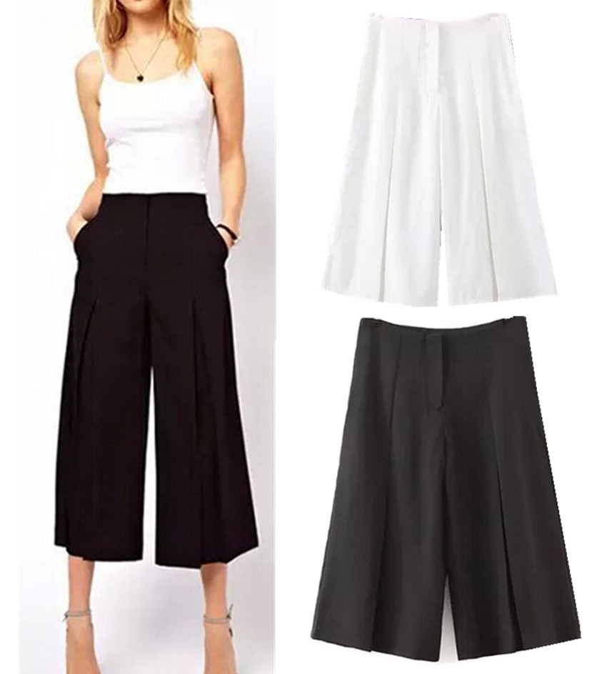 Popular Gaucho Pants Black-Buy Cheap Gaucho Pants Black lots from ...