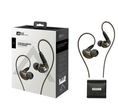 2017 MEE Audio MEElectronics Pinnacle P1 Audiophile Ad Alta Fedeltà Auricolari In-Ear con Cavi Staccabili trasporto di goccia
