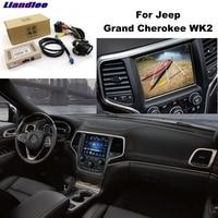 Liandlee Parking Camera Interface Reverse Back Up Park Camera Kits For Jeep Grand Cherokee WK2 Original Display Upgraded