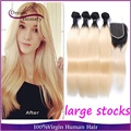 Ombre Hair Extensions 2 Tone Ombre Brazilian Virgin Hair T1b/613 Ombre Brazilian Straight Ombre Brazilian Human Hair Bundles